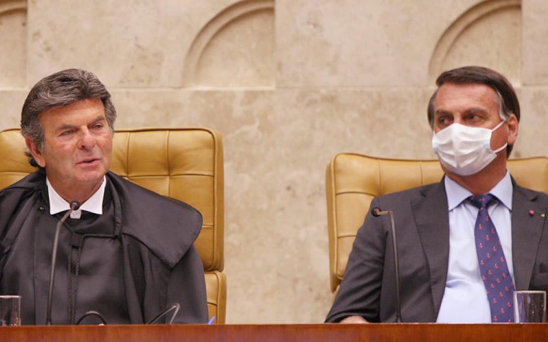Fux do STF em discurso transforma Bolsonaro e seu negacionismo e deboche com o coronavírus em piada